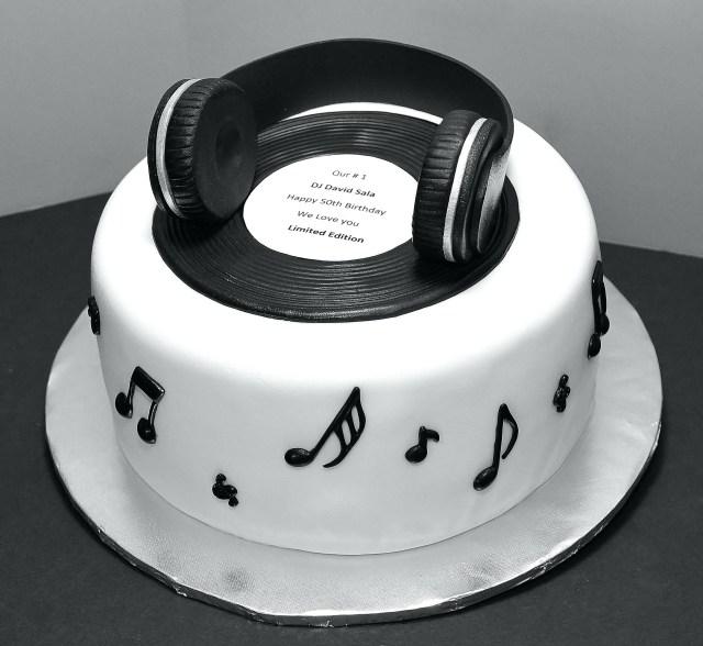 Music Birthday Cakes Cool Black White Music Birthday Cake Wwwdelightfulscom Xurl