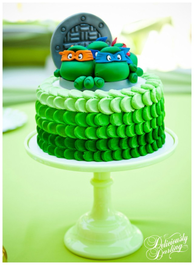 Ninja Turtles Birthday Cake Deliciously Darling Teenage Mutant Ninja Turtle Birthday Party