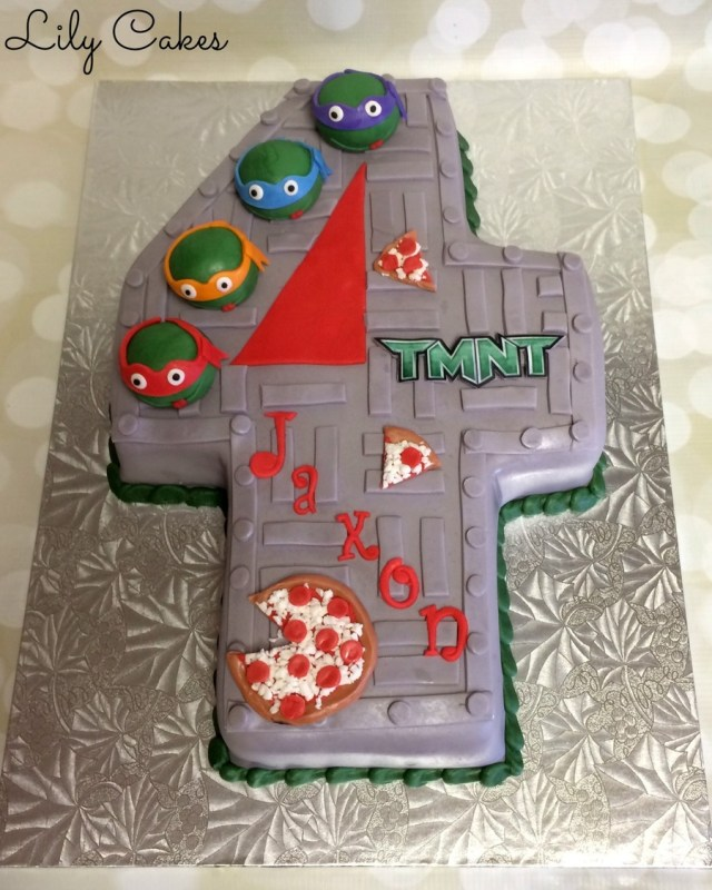 Ninja Turtles Birthday Cake Teenage Mutant Ninja Turtle Cake For A 4th Birthday Cakecentral