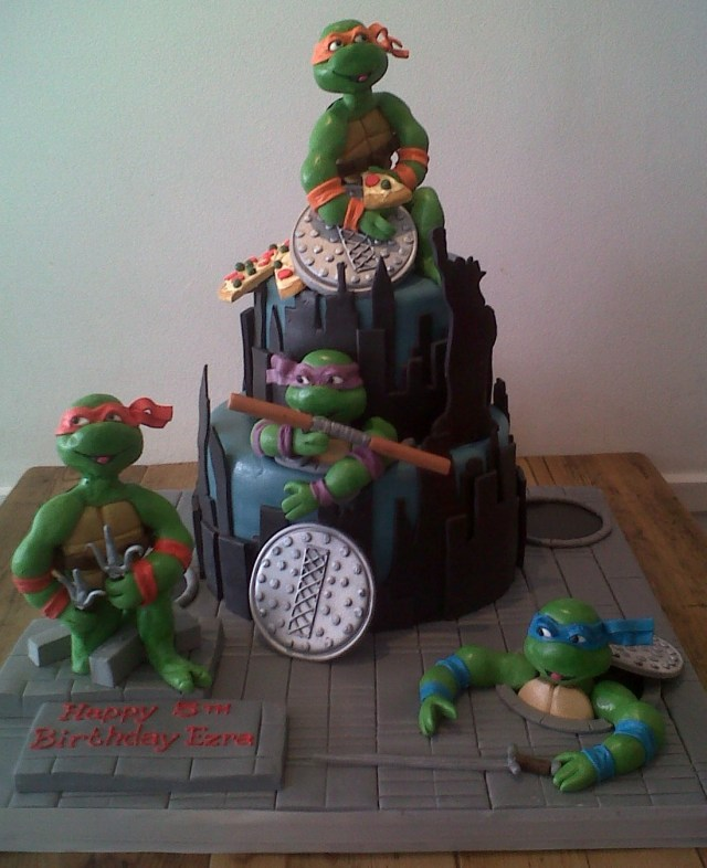 Ninja Turtles Birthday Cake Teenage Mutant Ninja Turtles Birthday Cake Cakes Robin