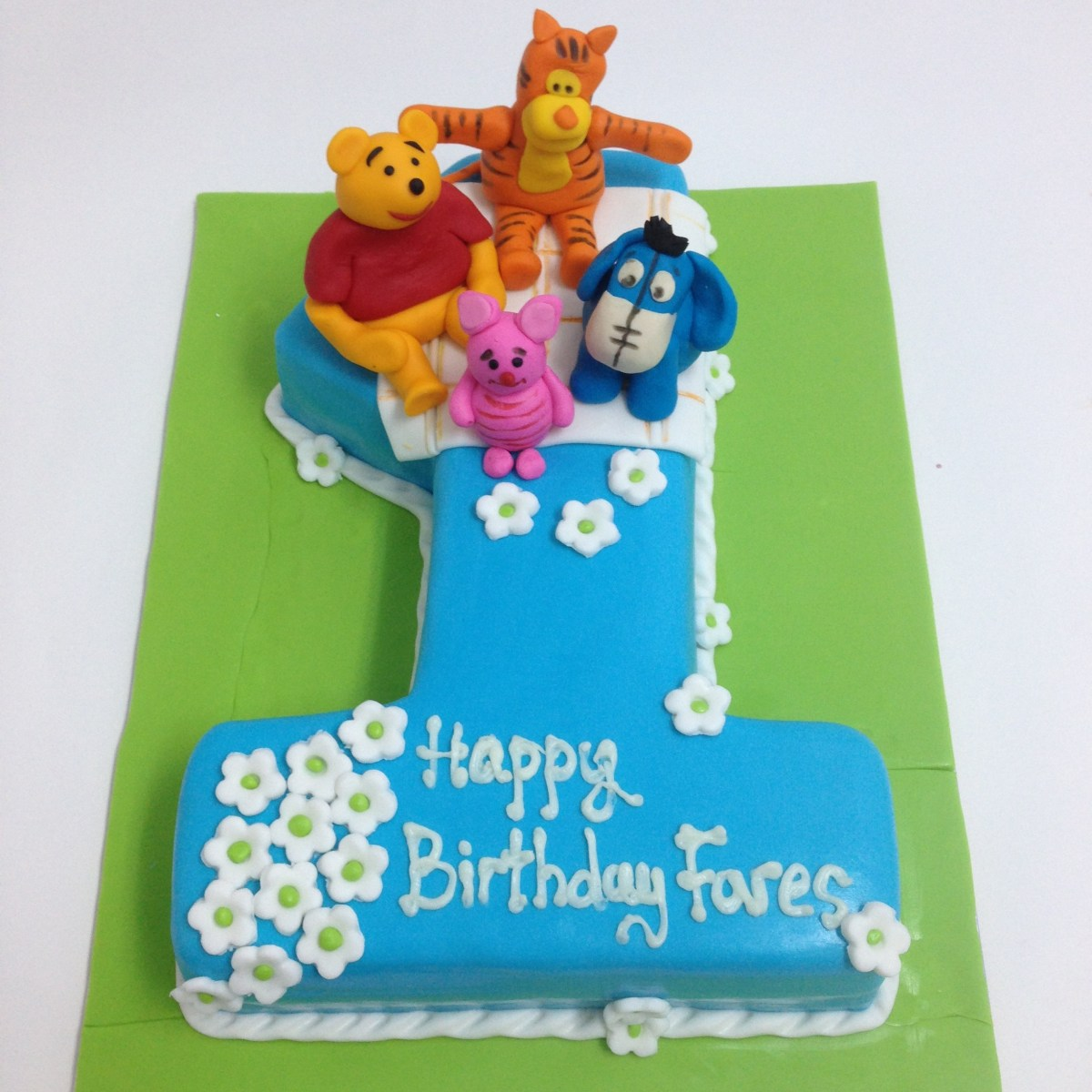 Number Birthday Cakes Number One Winnie The Pooh Numbers Birthday Cakes Decorated Cakes