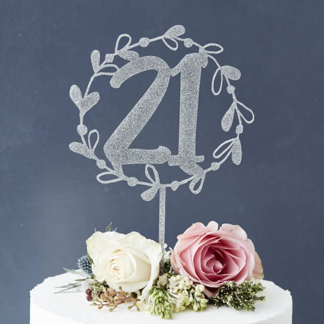 Number Birthday Cakes Personalised Floral Number Birthday Cake Topper Sophia Victoria