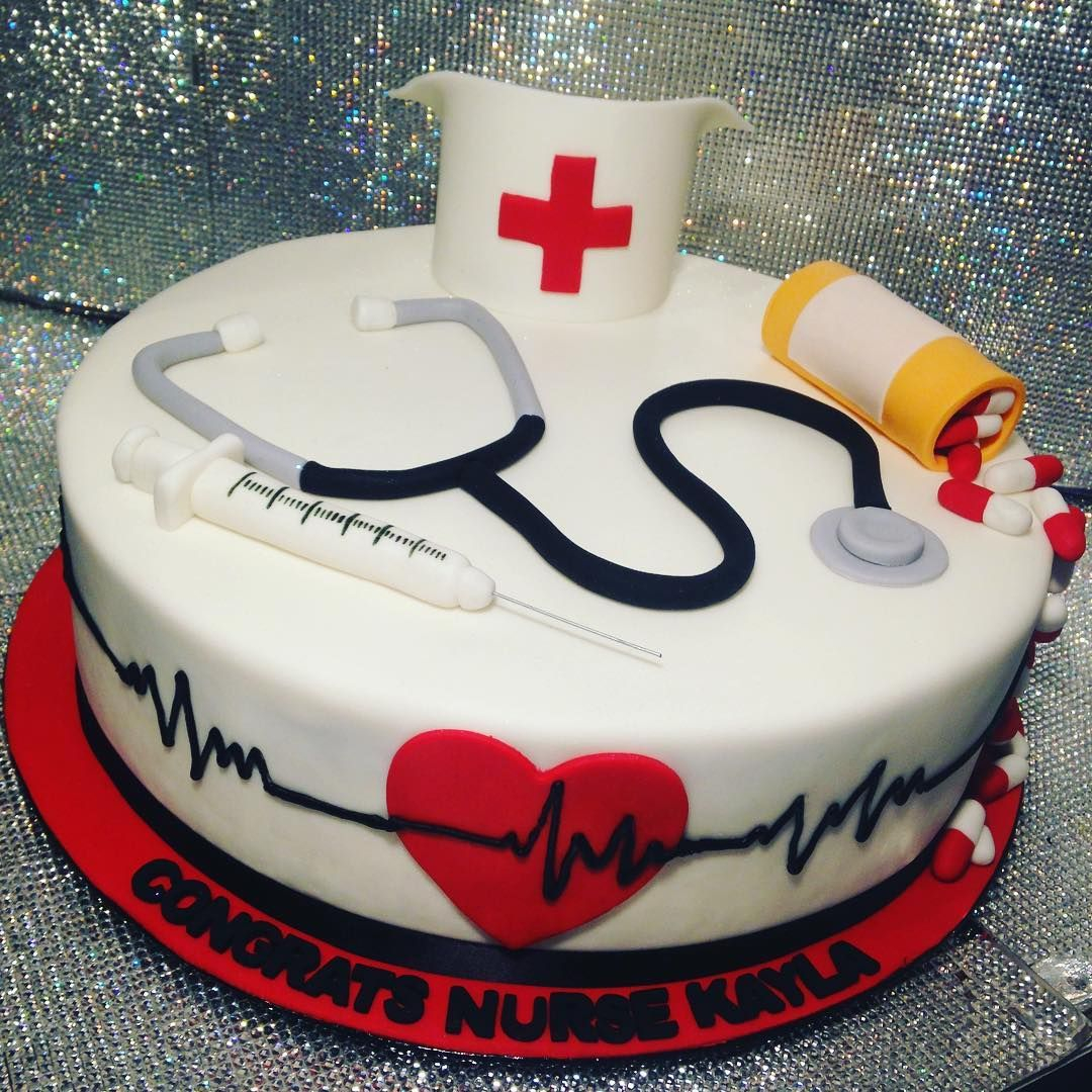 Nurse Birthday Cake Graduation Showboy Showboybakeshop Bakery Lasvegas