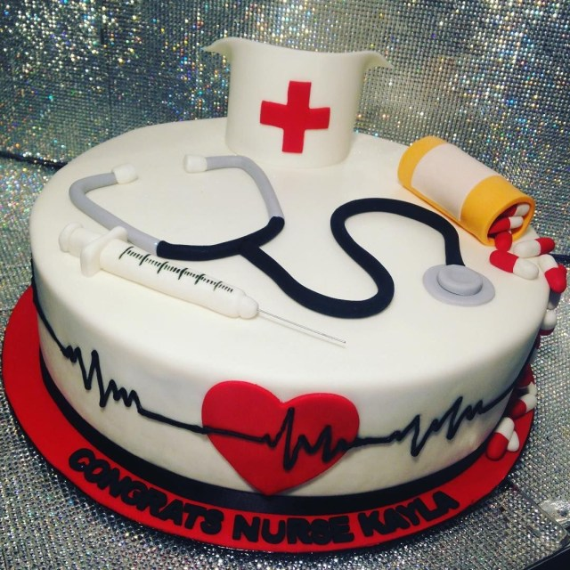 Nurse Birthday Cake Nurse Graduation Cake Showboy Showboybakeshop Bakery Lasvegas