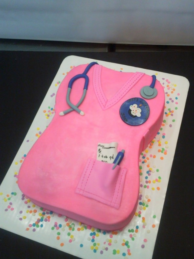 Nurse Birthday Cake Sweet Ts Cake Design Nurse Scrubs Sculpted Birthday Cake