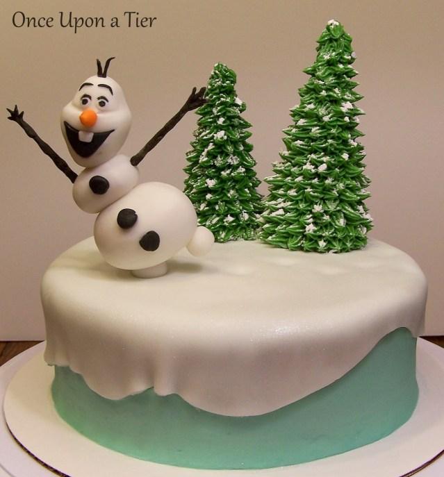 Olaf Birthday Cake Once Upon A Tier Olaf Cake Rachels Birthday Cake
