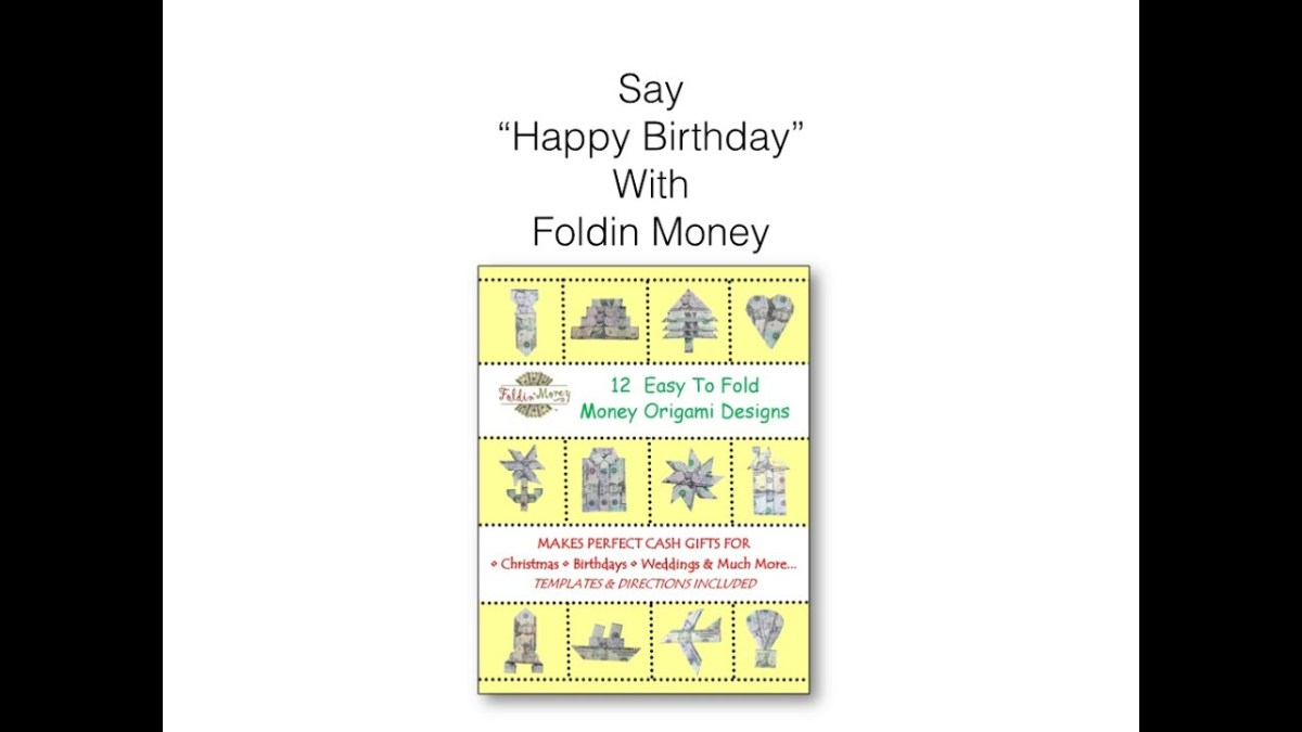 Origami Birthday Cake Celebrate A In Style With Money Foldin