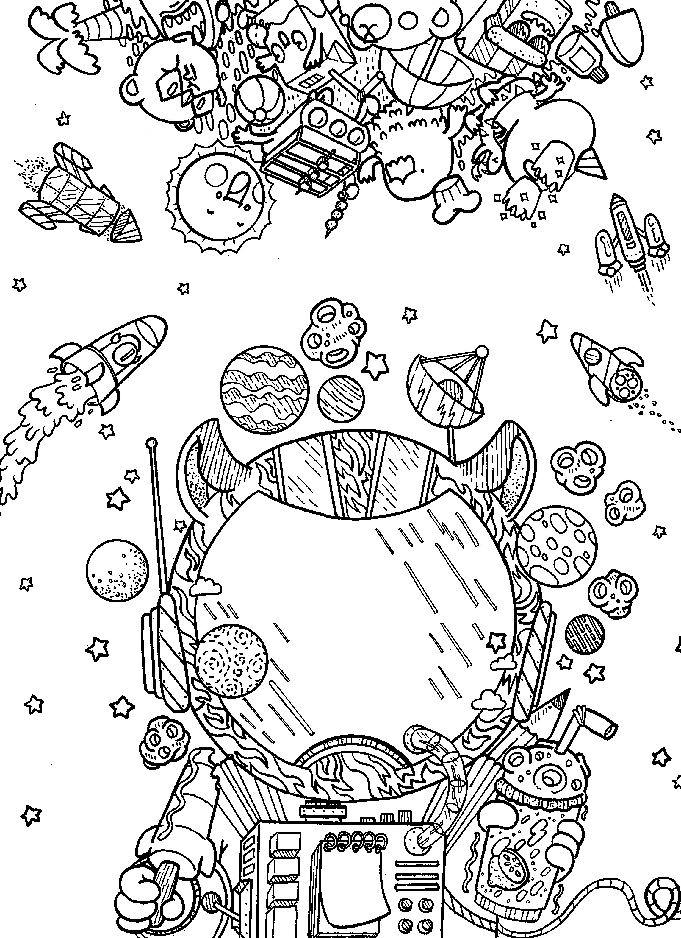 Marvelous Picture Of Outer Space Coloring Pages