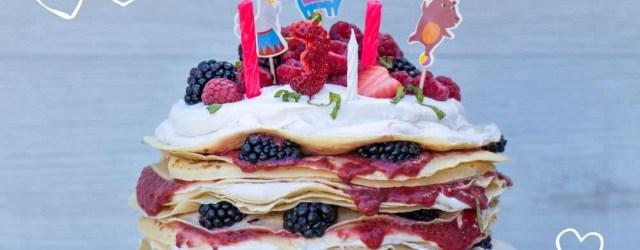 Pancake Birthday Cake Birthday Pancake Cake Ba Led Feeding