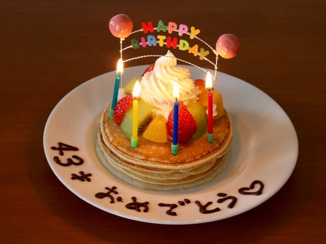 Pancake Birthday Cake How To Make Birthday Cake Pancakes Cake Decorating Idea Japanese