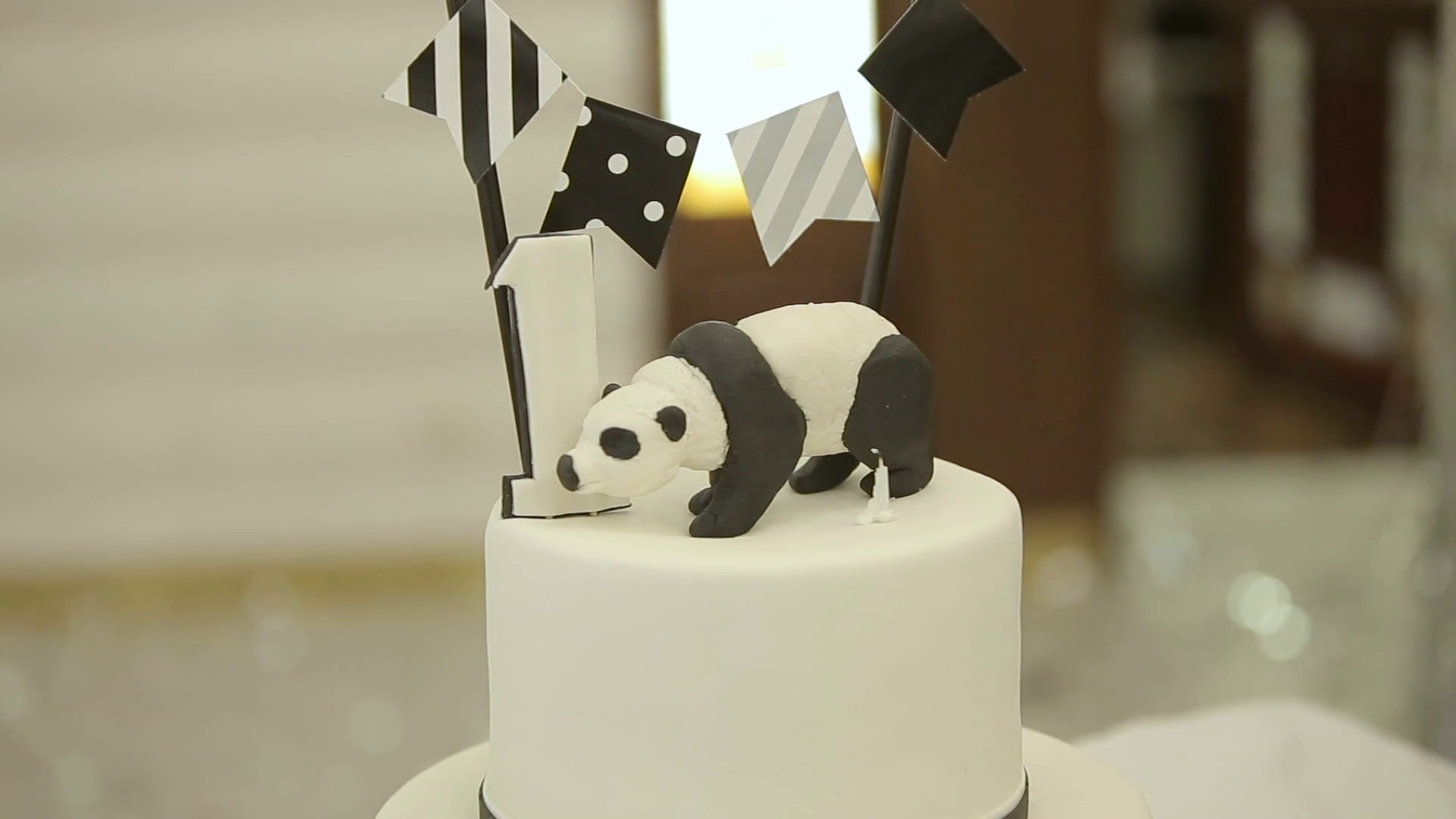 Panda Birthday Cake Happy Birthday Cake Child First Birthday Party Panda Style Cake