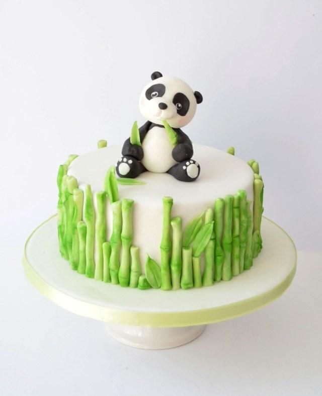 Panda Birthday Cake Panda Cake Panda Cakes Pinte