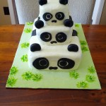Panda Birthday Cake Second Generation Cake Design Panda Birthday Cake