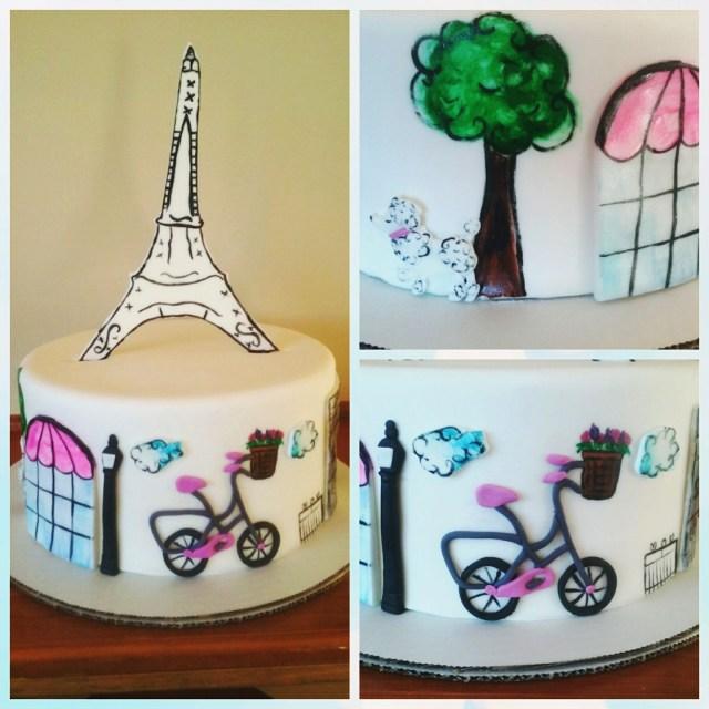 Paris Birthday Cake Paris Theme Birthday Cake Taste See Deli Bakery And Espresso