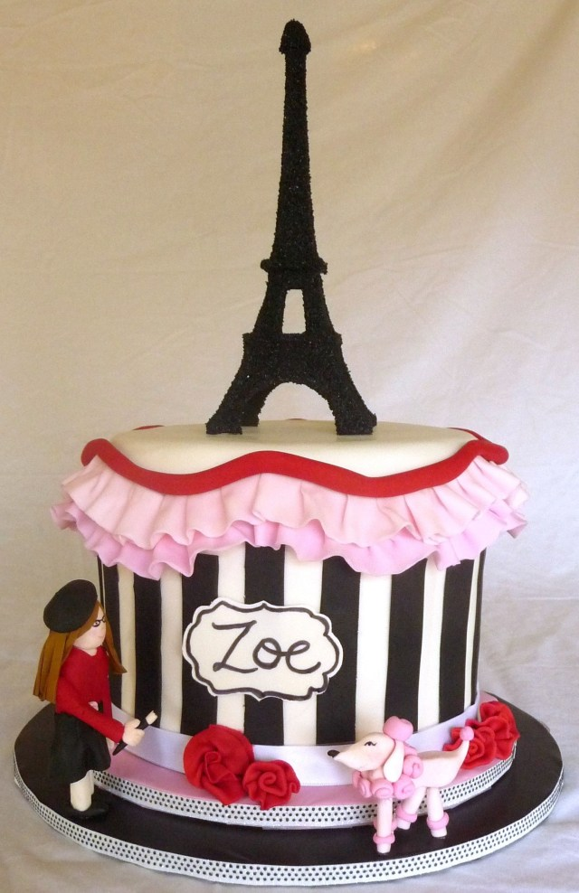 Paris Birthday Cake Paris Themed Cake This Cake Was Made For An 11 Year Olds Birthday