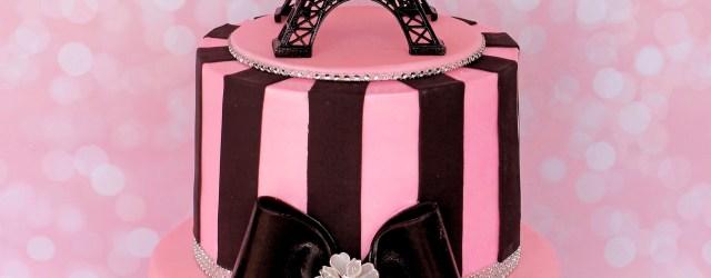 Paris Birthday Cake Parisian Theme Cake Pariscake Eiffeltower Pinkandblack Paris