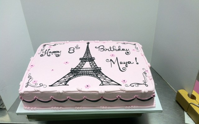 Paris Birthday Cakes Paris Themed Birthday Sheet Cakes Hot Trending Now