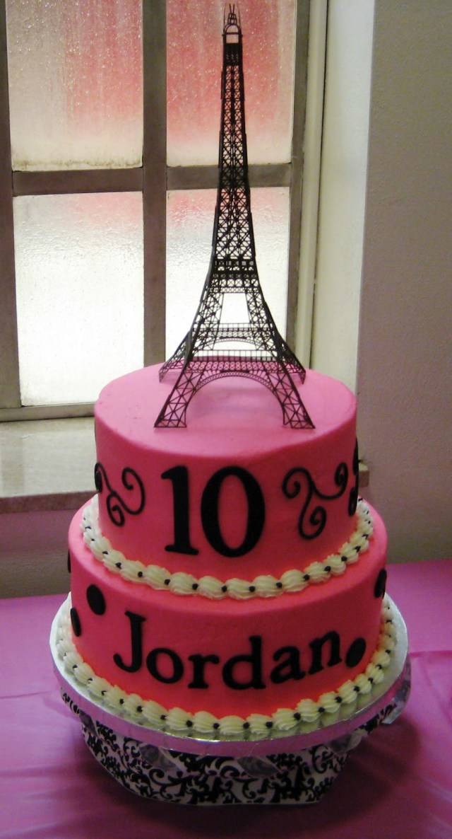 Paris Birthday Cakes Simply Sweet Parisian Birthday Cake