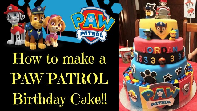 Paw Patrol Birthday Cake Toppers How To Make A Paw Patrol Birthday Cake Youtube