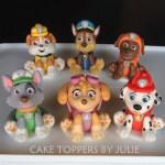 Paw Patrol Birthday Cake Toppers Pasteles Personalizados De Julie Primeros De La Pata De La Patrulla