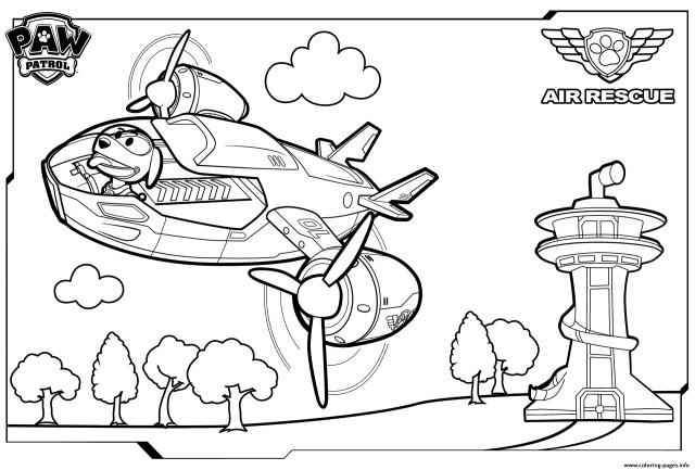 Paw Patrol Coloring Pages Paw Patrol Air Patroller Coloring Coloring Pages Printable