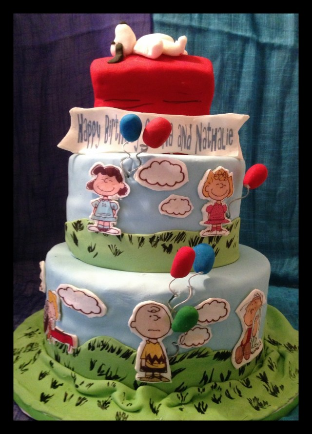 Peanuts Birthday Cake Peanuts Gang Birthday Cake Cakecentral
