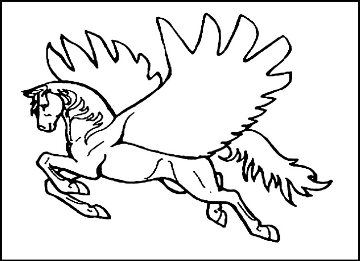 25+ Creative Image of Pegasus Coloring Pages