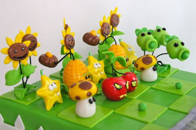 Plants Vs Zombies Birthday Cake Celebrate With Cake Plant Vs Zombie Cake