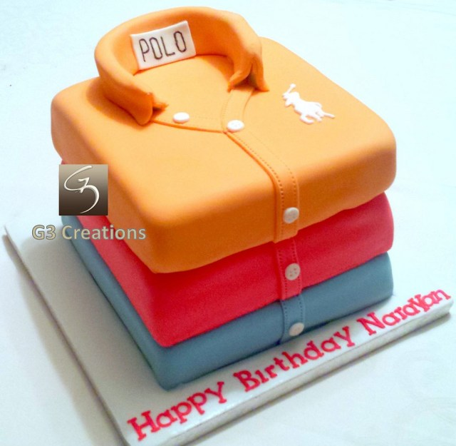 Polo Birthday Cake Stacked 3 Polo Shirts Birthday Cake Stacked Shirts Belgian Flickr