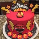 Power Ranger Birthday Cakes Power Ranger Wild Force Cake In Red Buttercream For 5 Year Old