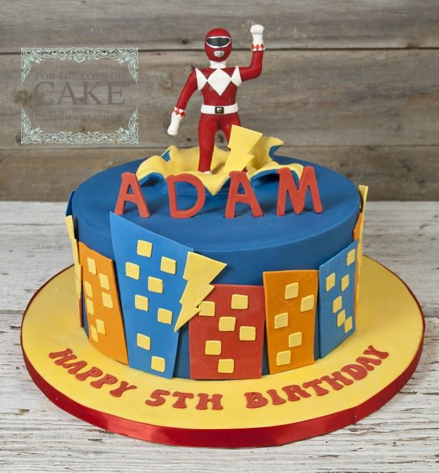 Power Rangers Birthday Cake Bc4722 Red Power Ranger Birthday Cake Toronto Genevieve Finley