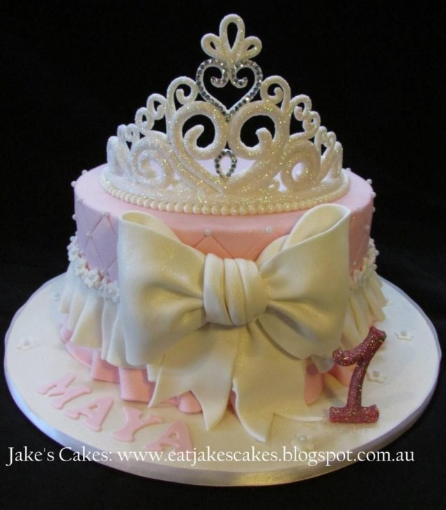 Princess 1St Birthday Cake My Ba Girls First Birthday Cake Loved It Princess Party