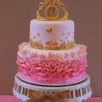 Princess 1St Birthday Cake Pink And Gold Princess First Birthday Cake Rhemingtyns 1st
