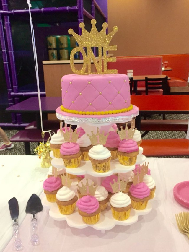 Princess 1St Birthday Cake Pink Gold Cakecupcakes A Royal 1st Birthday Cake Pinte