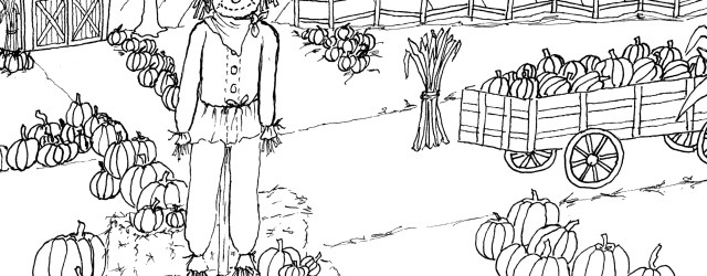 Pumpkin Patch Coloring Pages Pumpkin Patch Coloring Page Printable The Graphics Fairy