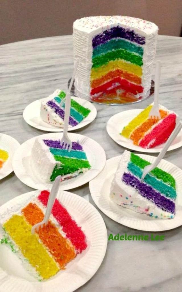 Rainbow Birthday Cake Rainbow Birthday Cake Lovefoodies