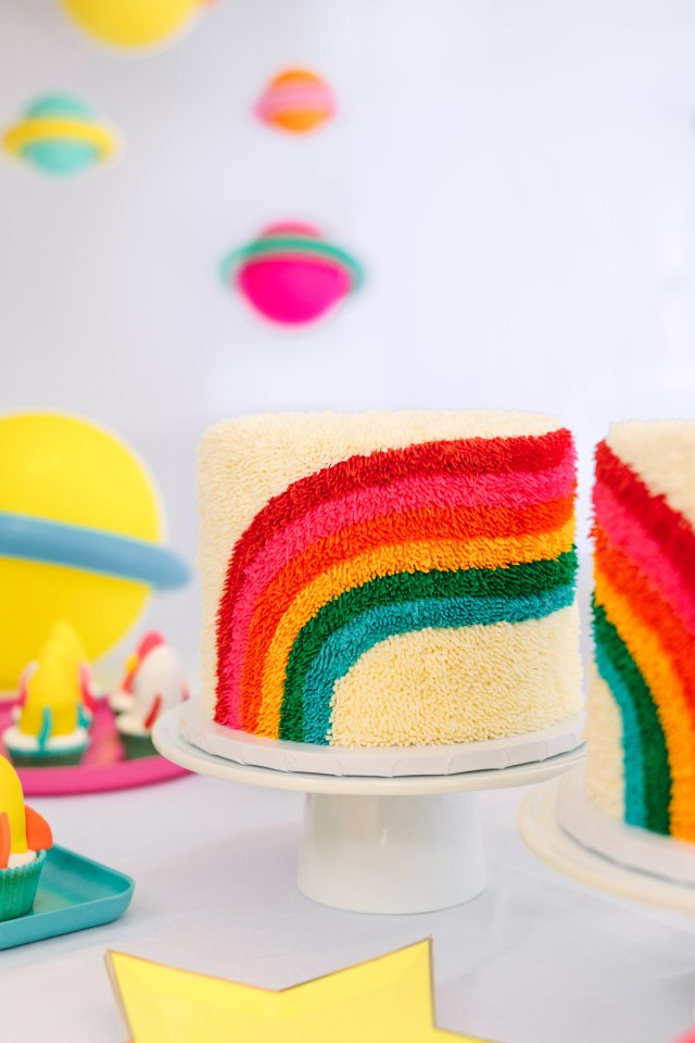 Rainbow Birthday Cakes Rainbow Birthday Cakes First Birthday Party Studio Diy