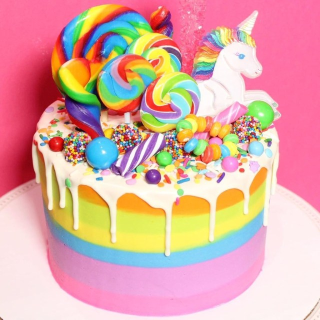 Rainbow Birthday Cakes Rainbow Birthday Cakes For Kids Popsugar Family