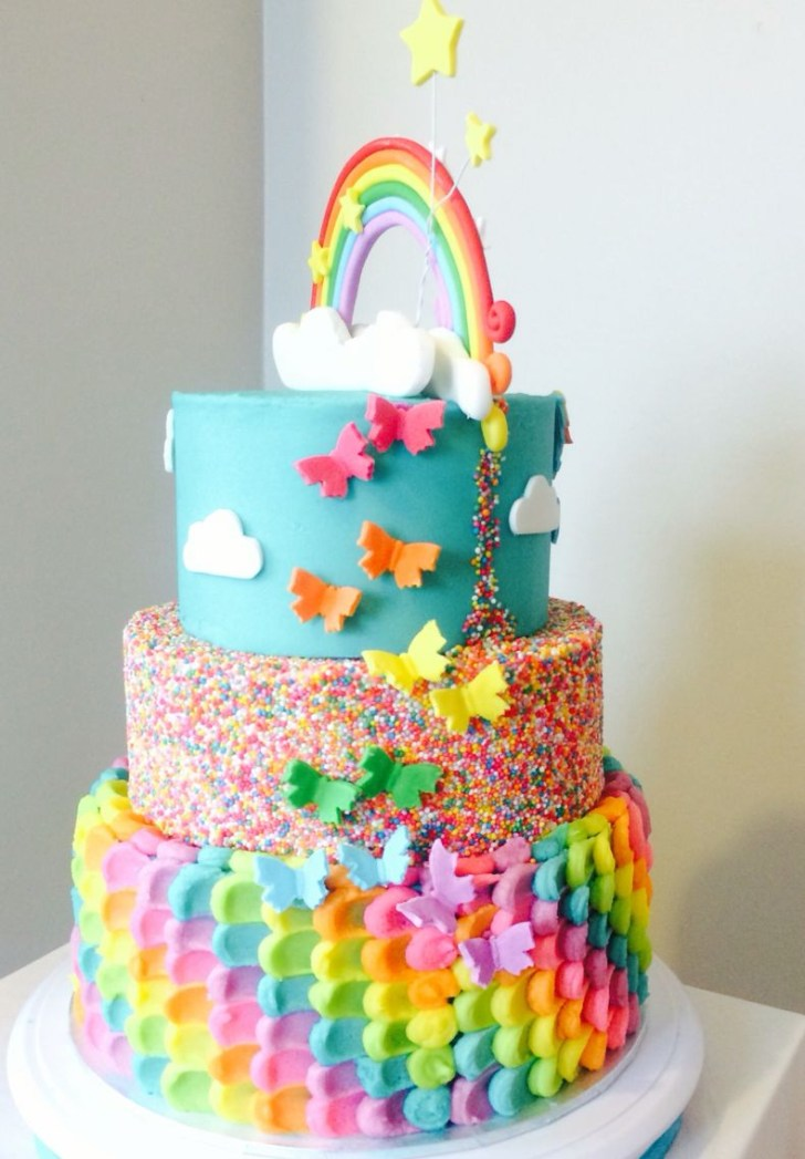 25+ Awesome Image of Rainbow Birthday Cakes