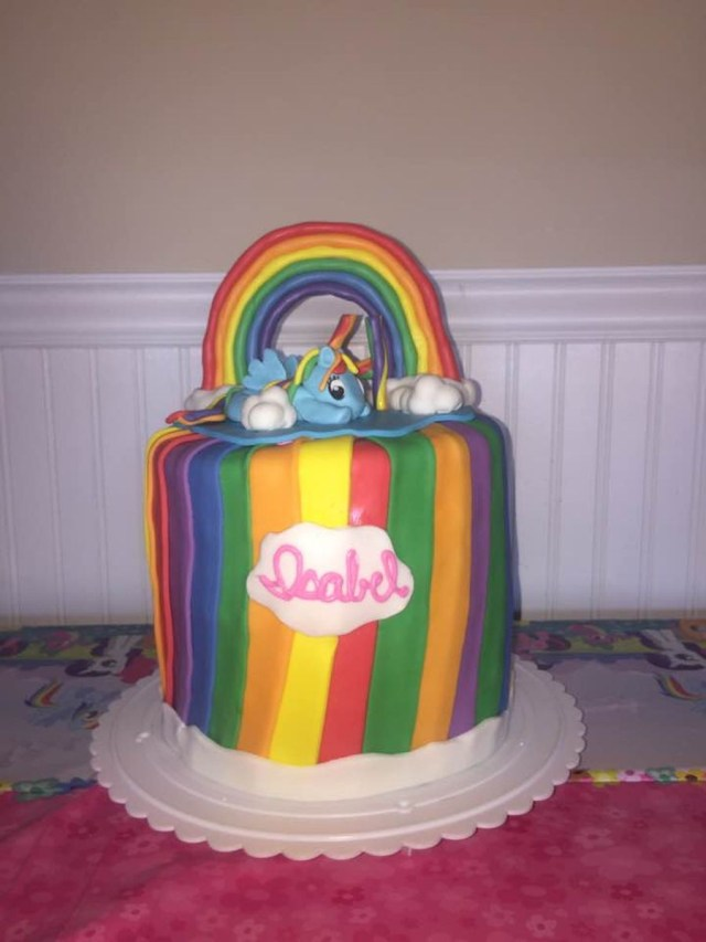Rainbow Dash Birthday Cake My Little Pony Rainbow Dash Birthday Cake Cakecentral