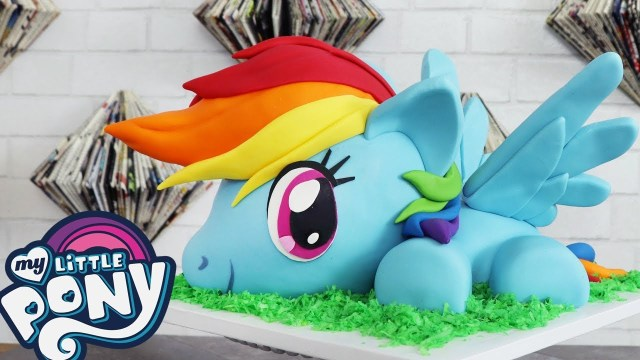 Rainbow Dash Birthday Cake My Little Pony Rainbow Dash Cake W Cake Bash Studios How To Youtube