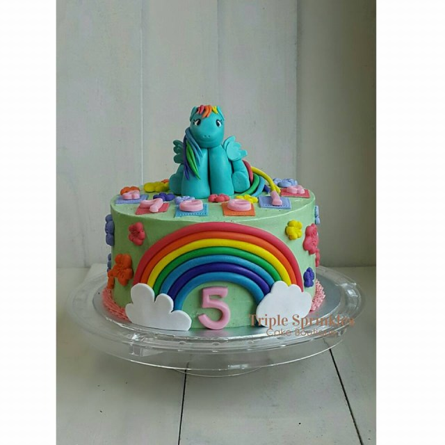 Rainbow Dash Birthday Cake Rainbow Dash Birthday Cake Triple Sprinkles