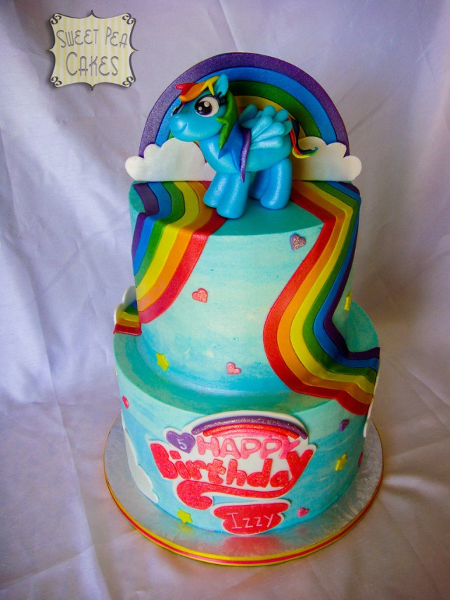 Rainbow Dash Birthday Cake Rainbow Dash Birthday Cake Two Tier Buttercream Cake With Flickr