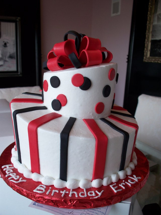 Red Birthday Cake Black And Red Topsy Turvy Mans Birthday Cake Simple And N Flickr