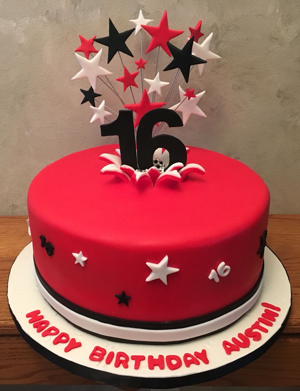 Red Birthday Cake Red Black And White Birthday Cake Numbers Exploding From Cake