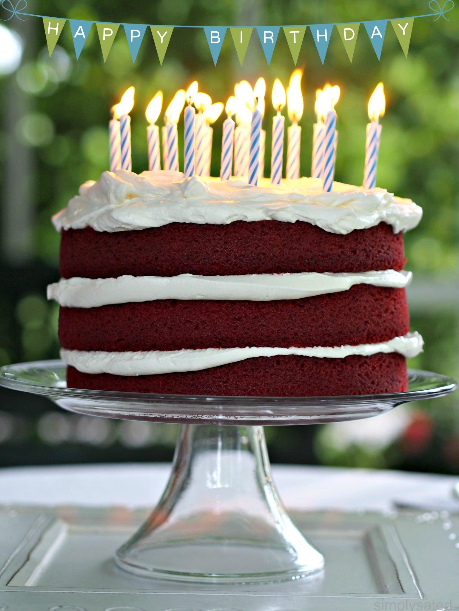 Red Birthday Cake Red Velvet Cake Simply Sated