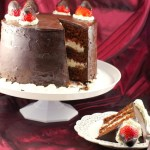 Red Birthday Cake Red Wine Strawberry Chocolate Fudge Cake Food Meanderings