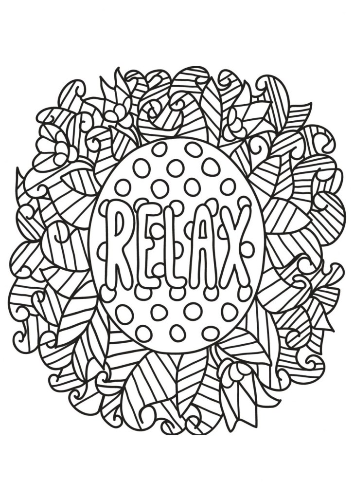 25+ Beautiful Photo of Relaxing Coloring Pages