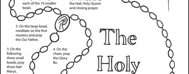 Rosary Coloring Page How To Pray The Rosary Coloring Page For Kids Thecatholickid