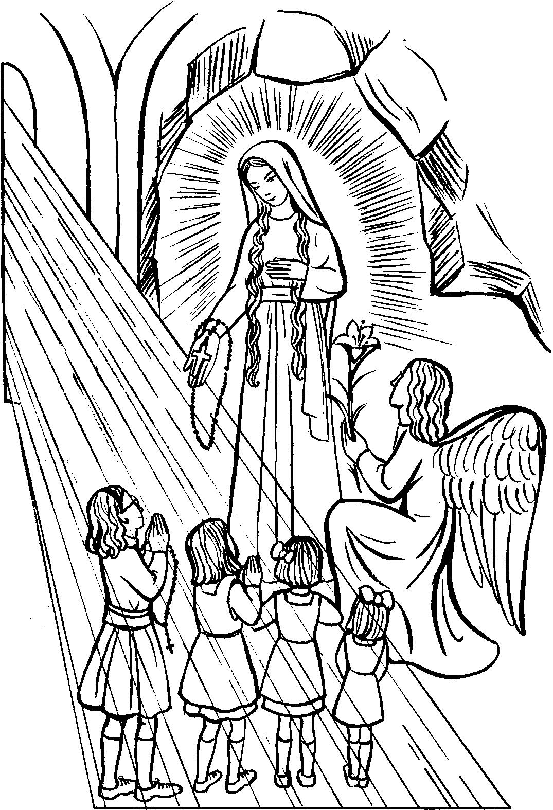 Rosary Coloring Page Rosary Drawing Pictures At Getdrawings Free For